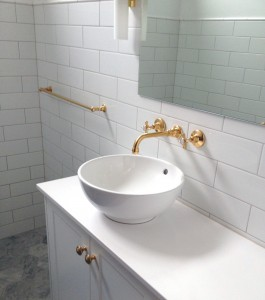 Photo: HE3001(Basin) in Dull Antique Brass (DAB) finish - this is the basin configuration with aerator on end of outlet