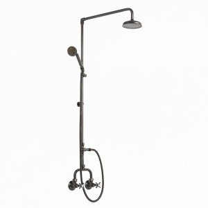 Photo: HE9601 in Weathered Brass (WB) finish with Handshower Handle in Weathered Brass [HH-SCT]