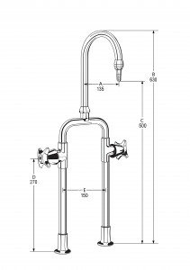 LB32 Line Drawing - Celestial Handles Pictured