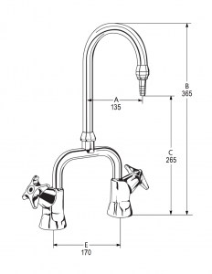 LB34 Line Drawing - Celestial Handles Pictured