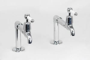 Photo: RL9670 in Chrome Plate (CP) finish with White Lever Insert Upgrade (LCNS)