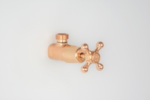 Photo: RU0047 in Dull Copper (DC) finish with Engraved Button Upgrade (EBU), Cold indicator shown