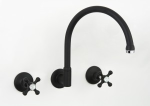 Photo: RU3114 in Matte Black with Chrome Trim (MB) finish with Engraved Button Upgrade (EBU)