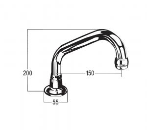 RU6032-B150 Line Drawing