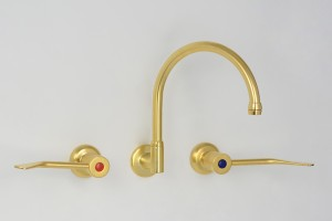 Photo: TF3614 with 180mm Levers in Dull Antique Brass (DAB) finish