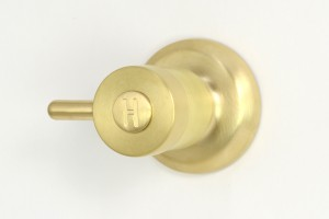 Photo: TL2543 in Lea Wheeled Brass (LW) finish with Engraved Button Upgrade (EBU) - Hot Indicator, shown immediately after manufacture