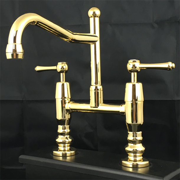 BA1362AB Olde Adelaide Exposed Hob Sink Set Top Head and Button in Antique Brass Finish