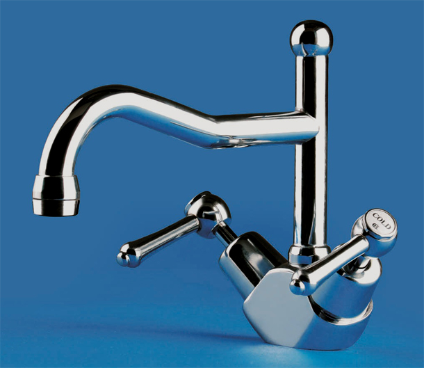 BA1518CP Olde Adelaide Sink Duo Mixer in Chrome Plate Finish