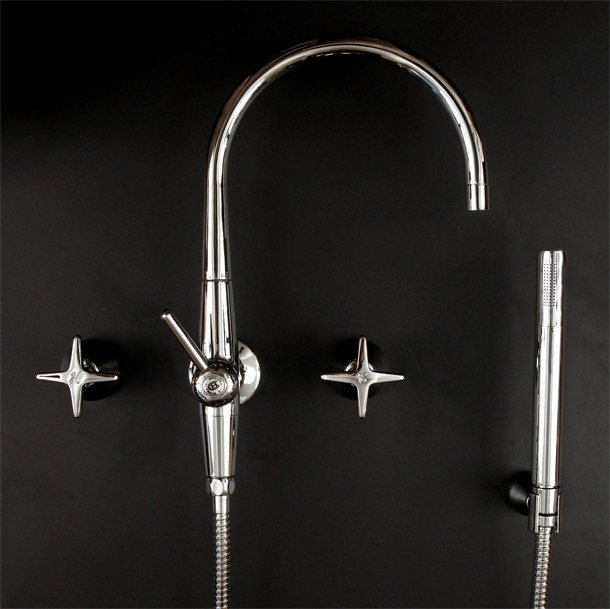 CB Ideal Seaview Top Assemblies with Floline Spa Filler Diverter with Handshower in Chrome Plate Finish