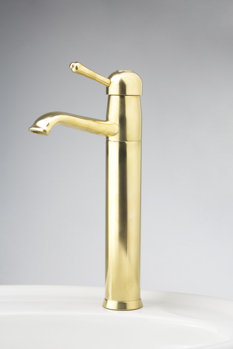 DB Single Lever Mixer with Hi-Rise Body and Fixed Outlet in Dull Antique Brass Finish