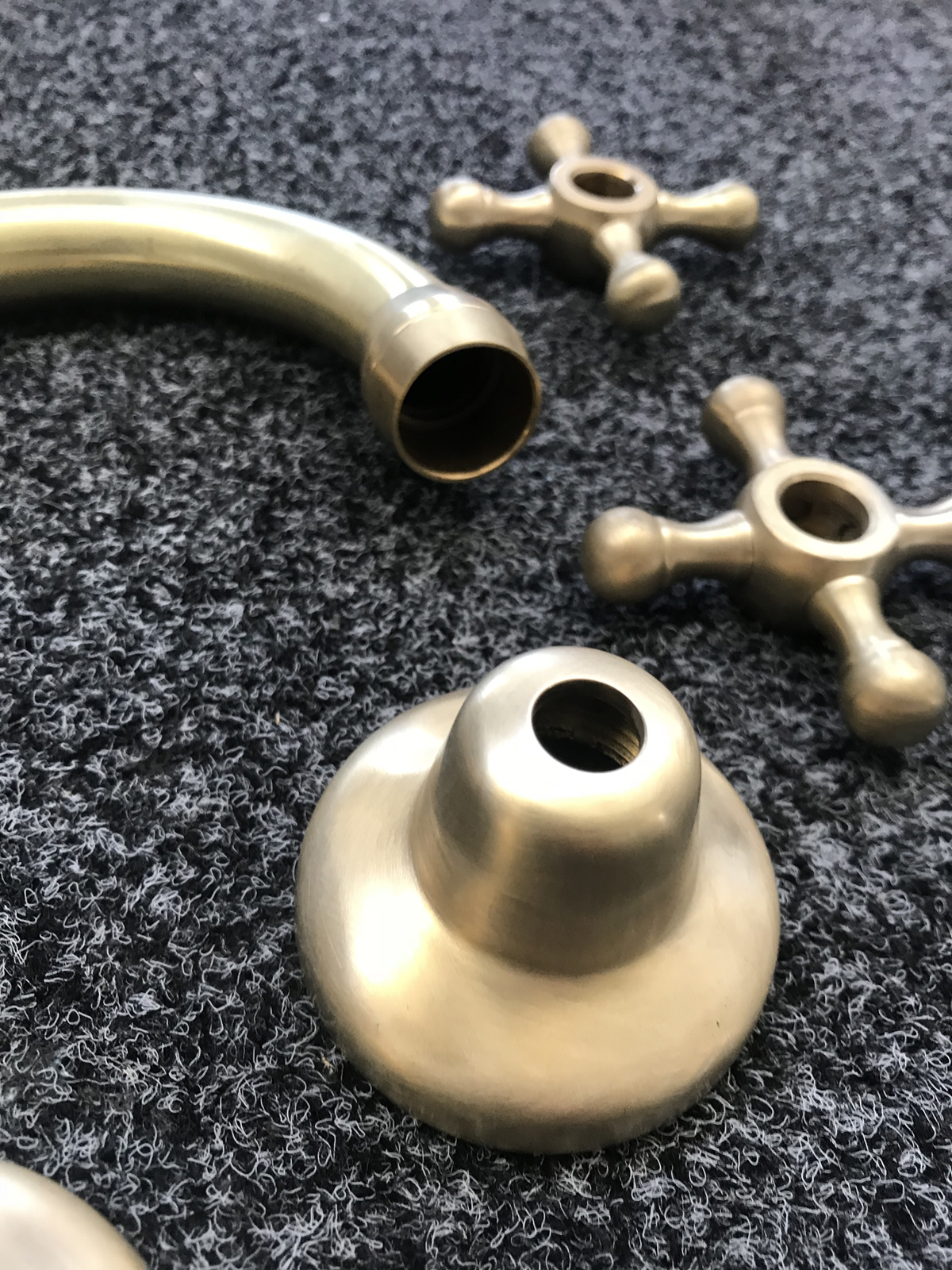 Roulette Basin Set Parts in Assembly After Lea Wheel Process