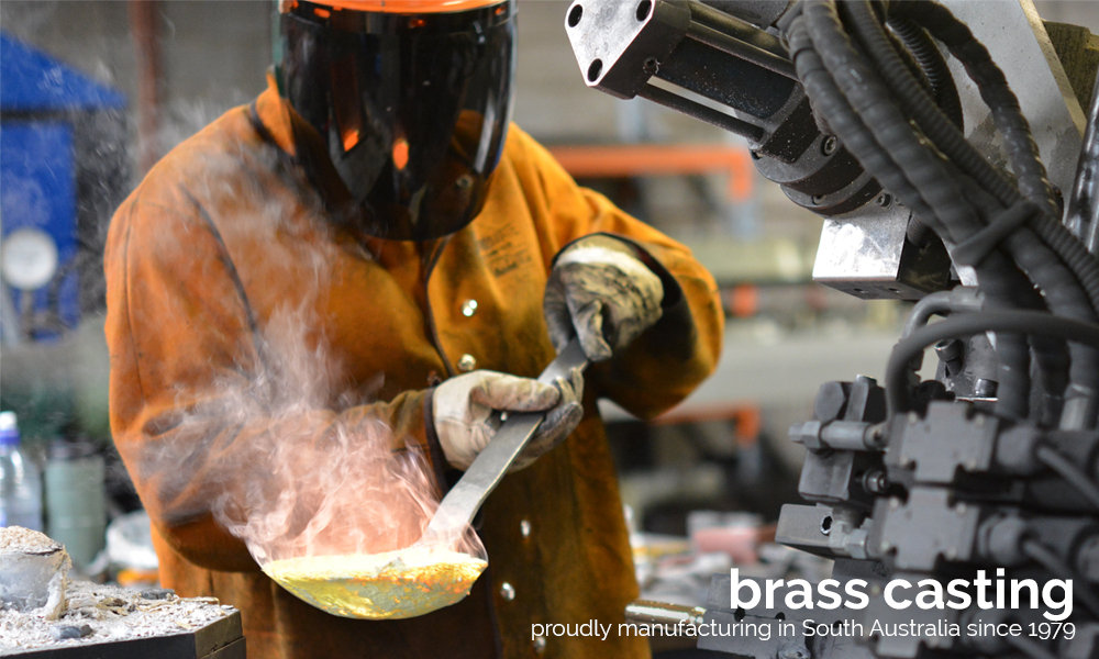 Brass Casting at Consolidated Brass
