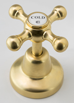 Roulette Basin Top Assembly in Dull Antique Brass Finish