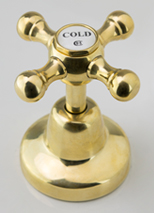 Roulette Basin Top Assembly in High Polished Brass Finish