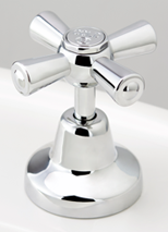 Roulette Redeux Basin Top Assembly in Chrome Plate Finish with Engraved Button Upgrade