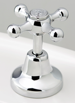 Roulette Basin Top Assembly in Chrome Plate Finish with Engraved Button Upgrade
