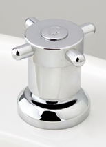 Torrens Capstan Basin Top Assembly in Chrome Plate Finish with Engraved Button Upgrade