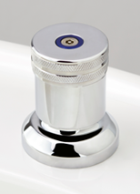 Torrens Capstan Basin Top Assembly in Chrome Plate Finish with Knurled / Torx Anti-Vandal Upgrade
