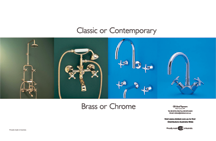 Classic or Contemporary - Brass or Chrome