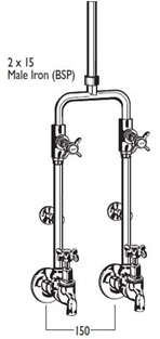9458 tubular Bath/Shower sets