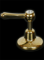 Roulette Lever in Antique Brass