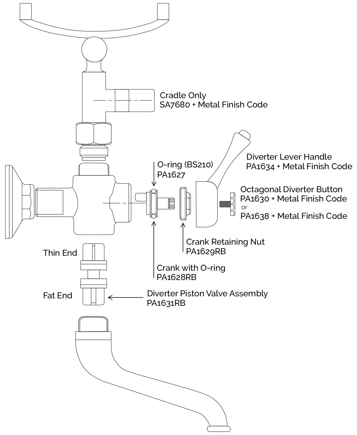 Diverter Parts Diagram