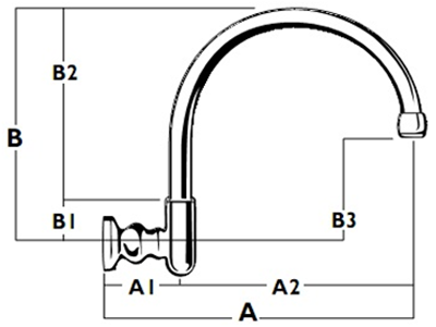 Heritage Wall Gooseneck Outlet - Diagram WALL-MTO-3