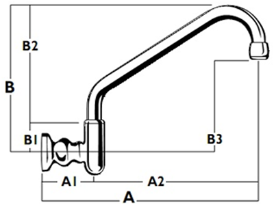 Heritage Wall Upswept Outlet - Diagram WALL-MTO-4